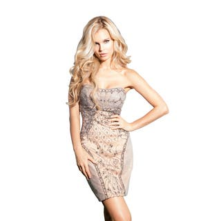 Terani Couture Silver Strapless Intricately Beaded Cocktail Dress|https://ak1.ostkcdn.com/images/products/15033416/P21528754.jpg?impolicy=medium