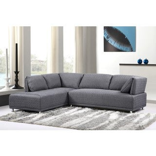 Modern Elvis Left Side Chaise Sectional Sofa with Metal Legs