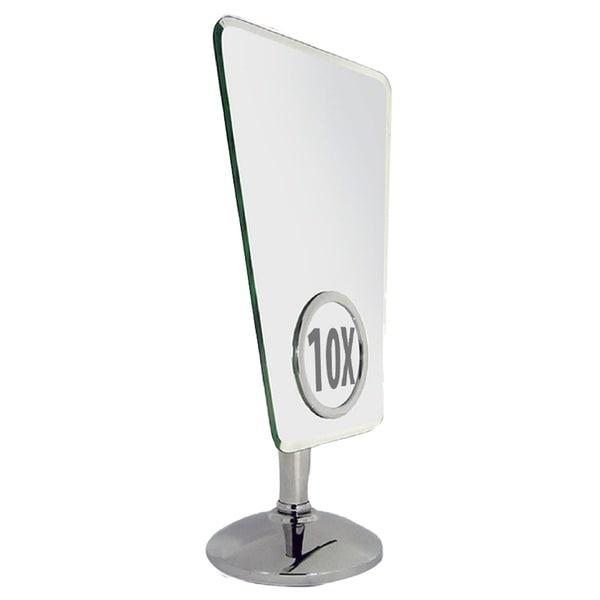 Shop Rucci 10x Rimless Trapezoid Stand Mirror Free