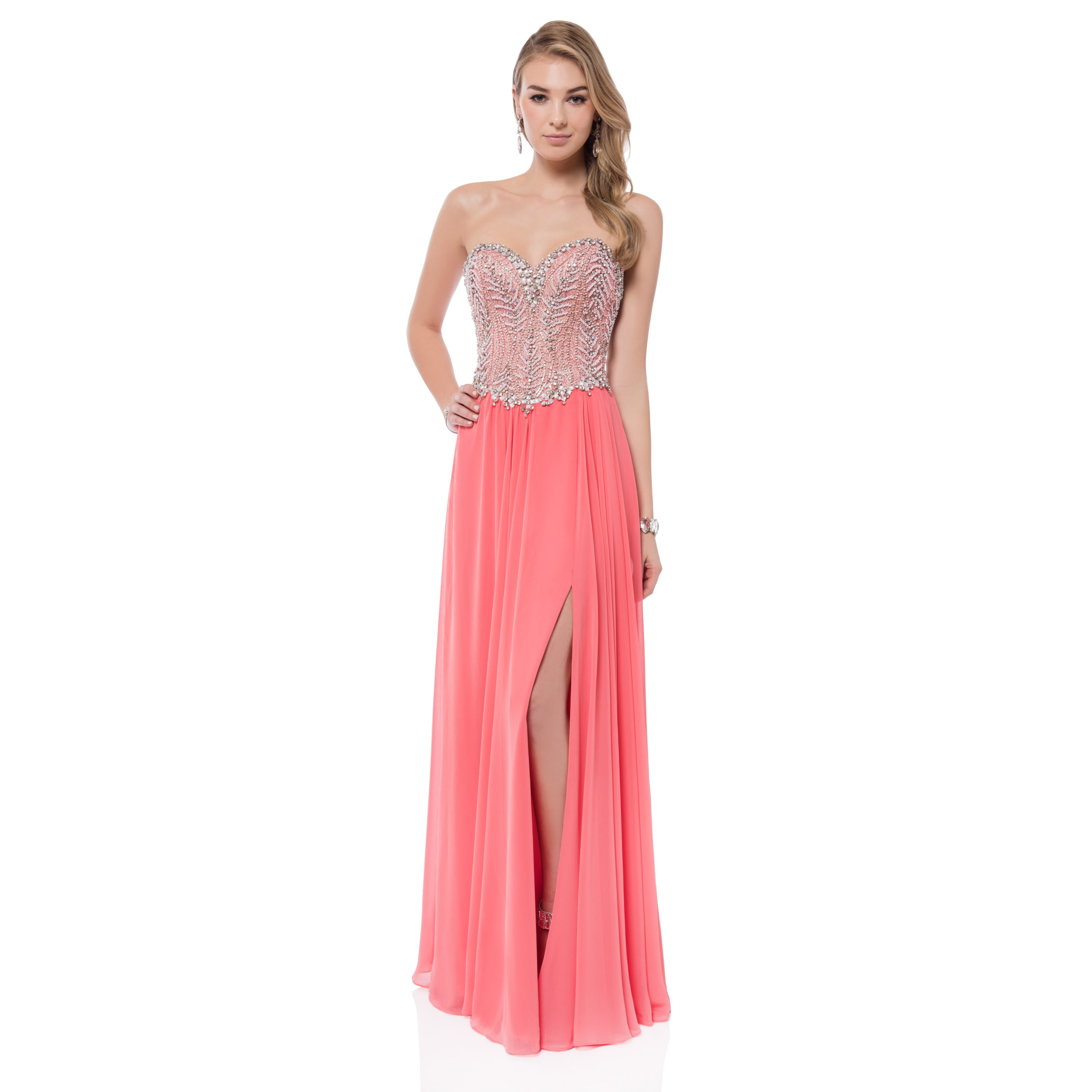 Terani Couture Women's Crystal-embellished Sweetheart Gow...