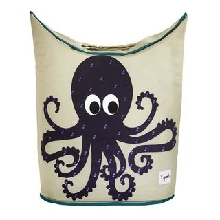 3 Sprouts Purple Octopus Laundry Hamper