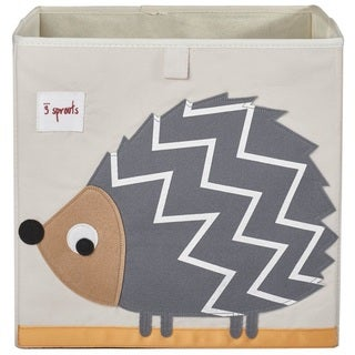 3 Sprouts Grey Hedgehog Storage Box