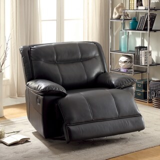 Furniture of America Klami Classic Tufted Leatherette Glider Recliner (2 options available)