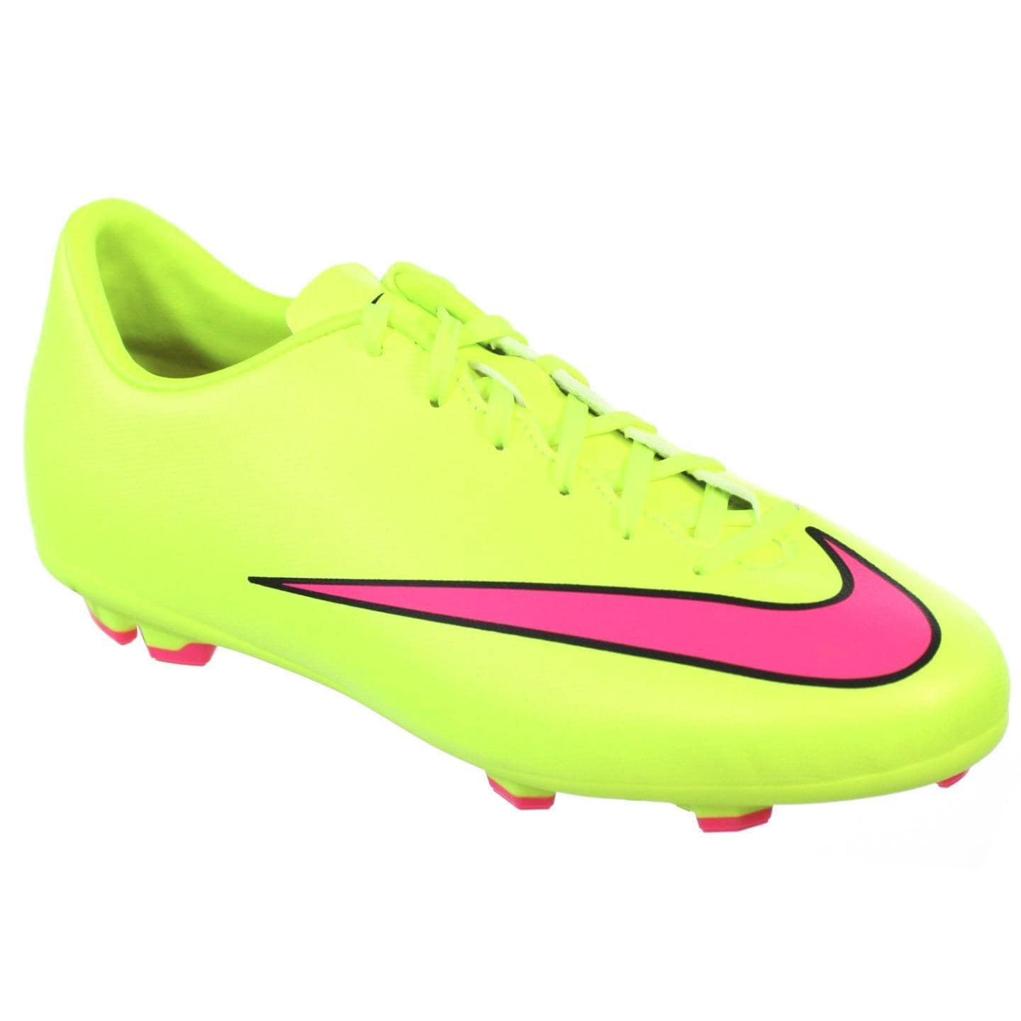 factory authentic 0d735 3fe9b Nike Jr Youth Mercurial Victory Volt FG 3.5 Y Pink/Black Molded Soccer  Cleats