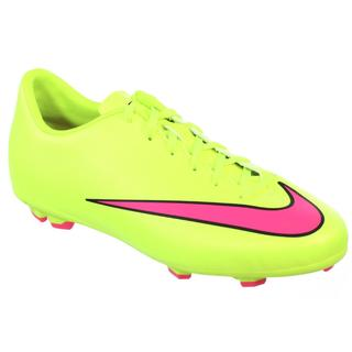 Nike Jr Youth Mercurial Victory Volt FG 3.5 Y Pink/Black Molded Soccer Cleats