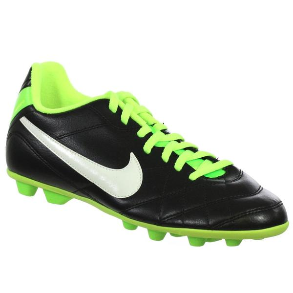 Nike Jr Tempo Pio FG-R Youth Synthetic Fiber Upper and Rubber Sole Molded Soccer Cleats