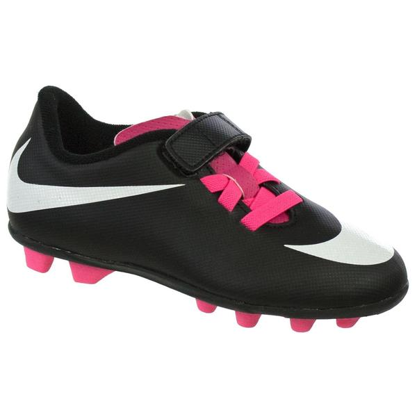 Nike Jr Bravata (V) FG-R 10 C Youth Black/White Molded Soccer Cleats