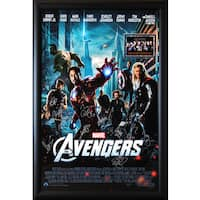 Framed Cast-signed Avengers Movie Poster