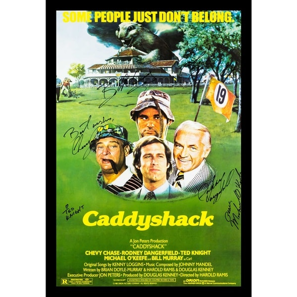 Autographed Caddyshack Movie Poster