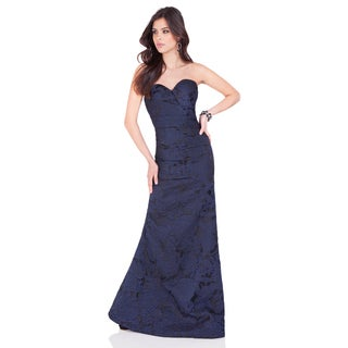 Women's Strapless Sweetheart Textured Jacquard Gown