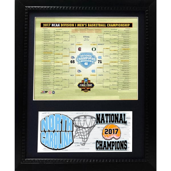 '2017 NCAA Men's College Basketball Championship' 12-inch x 18-inch Deluxe Frame Plaque