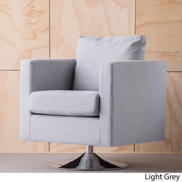 Super Shop Holden Modern Fabric Swivel Club Chair By Christopher Creativecarmelina Interior Chair Design Creativecarmelinacom