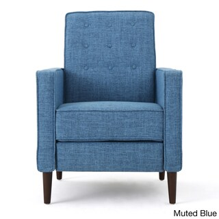 Mervynn Mid-Century Button Tufted Fabric Recliner Club Chair by Christopher Knight Home (4 options available)