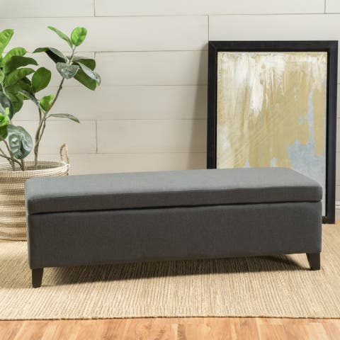 York Fabric Storage Ottoman Bench by Christopher Knight Home