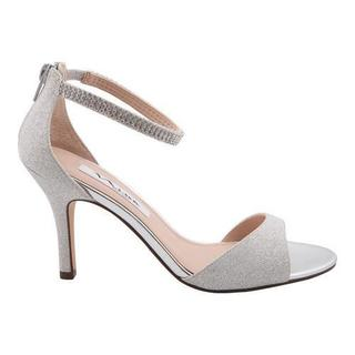 Women's Nina Vierra Ankle Strap Sandal Silver Bliss Metallic Fabric