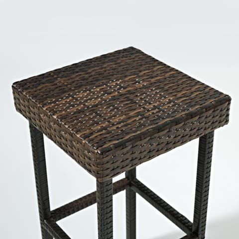 """Palm Harbor Outdoor Wicker 24"""" Counter Height Stool (Set of 2) - N/A"""
