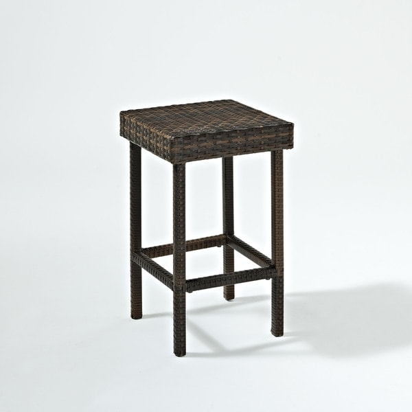 """Palm Harbor Outdoor Wicker 24"""" Counter Height Stool (Set of 2)"""