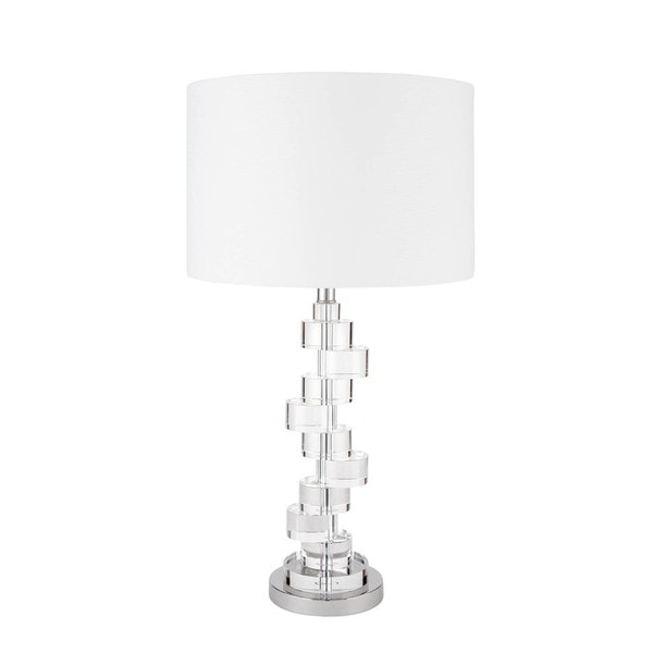 Crystal Stepping Stones Chrome 3-way Lighting Table Lamp