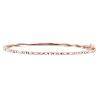 Miadora Signature Collection 14k Rose Gold 1/2ct TDW Diamond Eternity Bangle