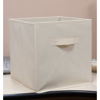 Homestar Fabric Bin-Beige (Pack of 4)