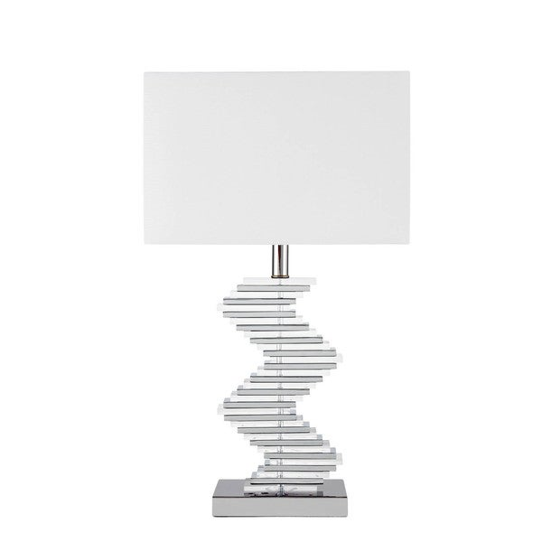 Crystal Two Tone Paved Table Lamp with 3 Brightness Settings