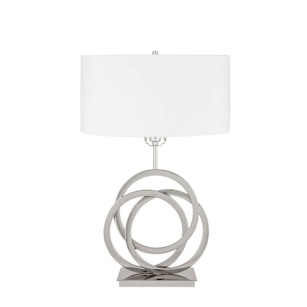 Circles in Origami Chrome and Crystal 3-setting Table Lamp