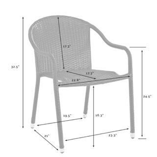 Brilliant Shop Palm Harbor Outdoor Wicker Stackable Chairs Set Of 4 Creativecarmelina Interior Chair Design Creativecarmelinacom