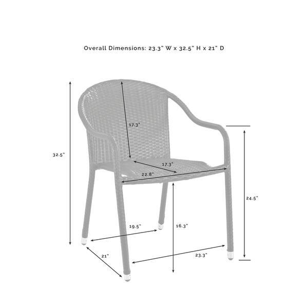 Enjoyable Shop Palm Harbor Outdoor Wicker Stackable Chairs Set Of 4 Creativecarmelina Interior Chair Design Creativecarmelinacom