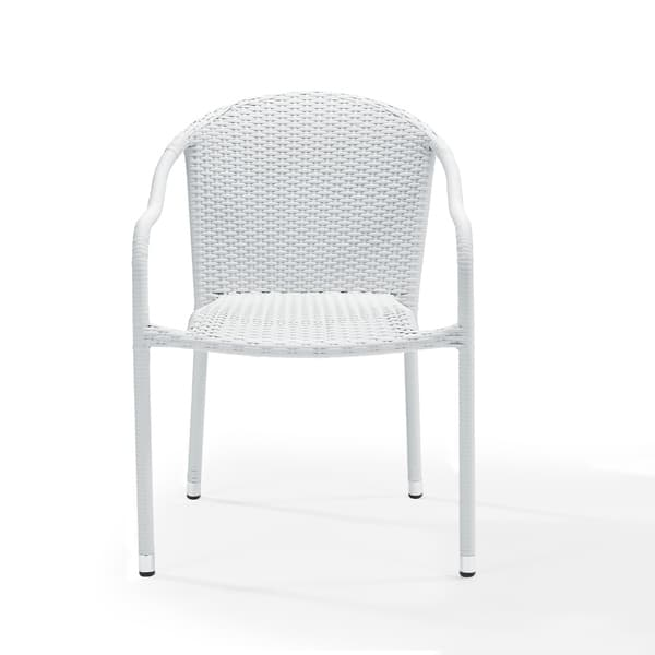 Swell Shop Palm Harbor Outdoor Wicker Stackable Chairs Set Of 4 Creativecarmelina Interior Chair Design Creativecarmelinacom