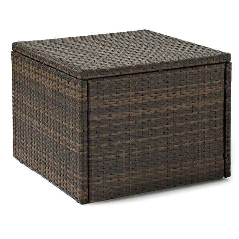 Palm Harbor Brown Wicker Outdoor Coffee Sectional Table