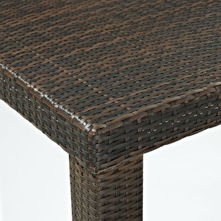 Palm Harbor Brown Wicker High Outdoor Dining Table
