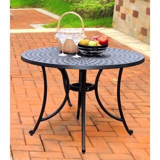 Sedona Charcoal Black Cast Aluminum 42-inch Dining Table