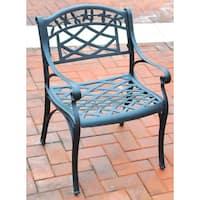 Sedona Cast Aluminum Arm Chair in Charcoal Black Finish (Set of 2)