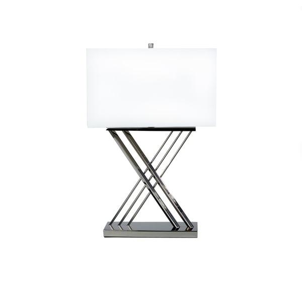 X Shape Chrome Table Lamp