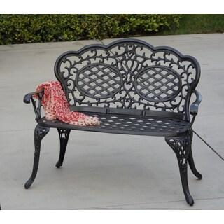 Plazzo Cast Aluminum Garden Bench