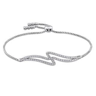 Miadora Signature Collection 14k White Gold 2/5ct TDW Diamond Swirl Bolo Bracelet (G-H, SI1-SI2)|https://ak1.ostkcdn.com/images/products/15049464/P21543042.jpg?impolicy=medium