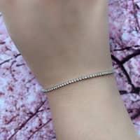 Miadora Signature Collection 14k White Gold 1 1/10ct TDW Diamond Tennis Bracelet (G-H, SI1-SI2)