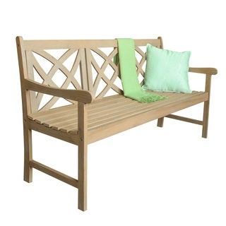 Beverly Outdoor 5-foot Garden Bench in Sand-Splashed Finish