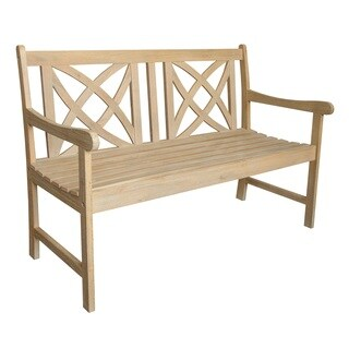 Beverly Outdoor 4-foot Garden Bench in Sand-Splashed Finish