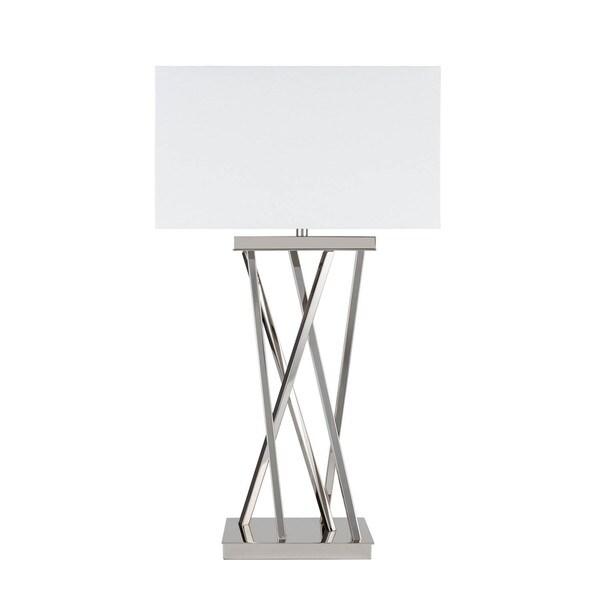 Straight Chrome 3-setting Table Lamp