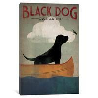iCanvas Black Dog Canoe Co. I by Ryan Fowler Canvas Print