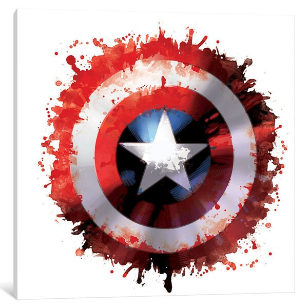 edb22d1b Shop iCanvas Captain's America Shield by Marvel Comics Canvas Print - On  Sale - Free Shipping Today - Overstock - 15049978