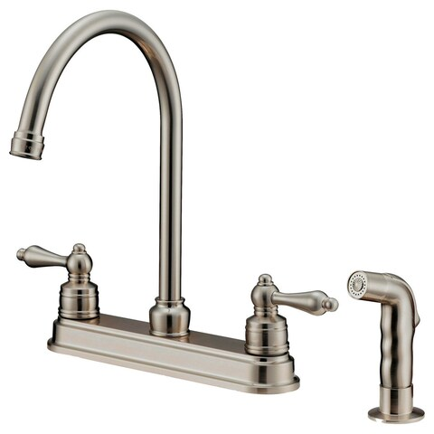LK8B Kitchen Faucet With Shower Sprayer, Brushed Nickel
