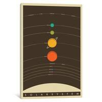 iCanvas 'Solar System' by Jazzberry Blue Canvas Print