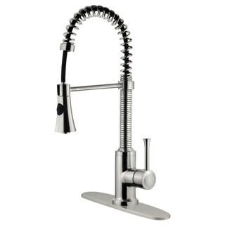 LK9B Kitchen Faucet With Shower Sprayer, Brushed Nickel