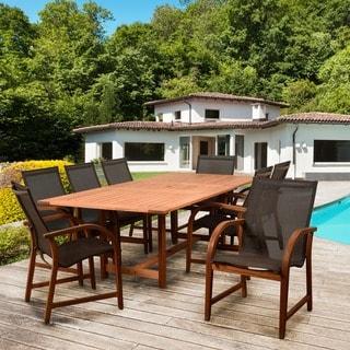 Amazonia Cosmopolitan Brown 9 Piece Rectangular Patio Dining Set