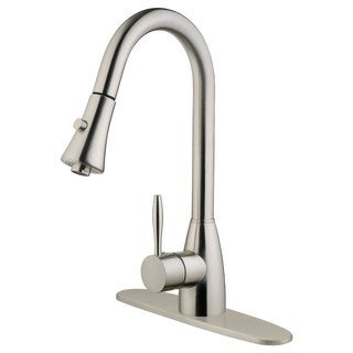 LK10B Pull Out Kitchen Faucet, Brushed Nickel Finish