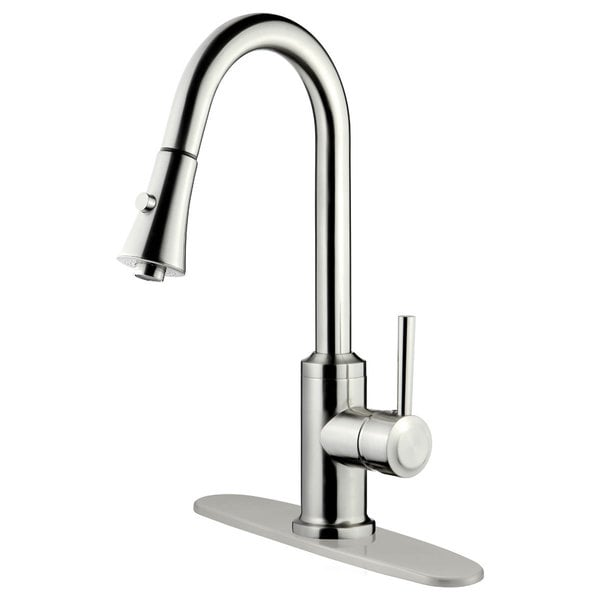 LK11B Pull Out Kitchen Faucet, Brushed Nickel Finish - Free Shipping ...
