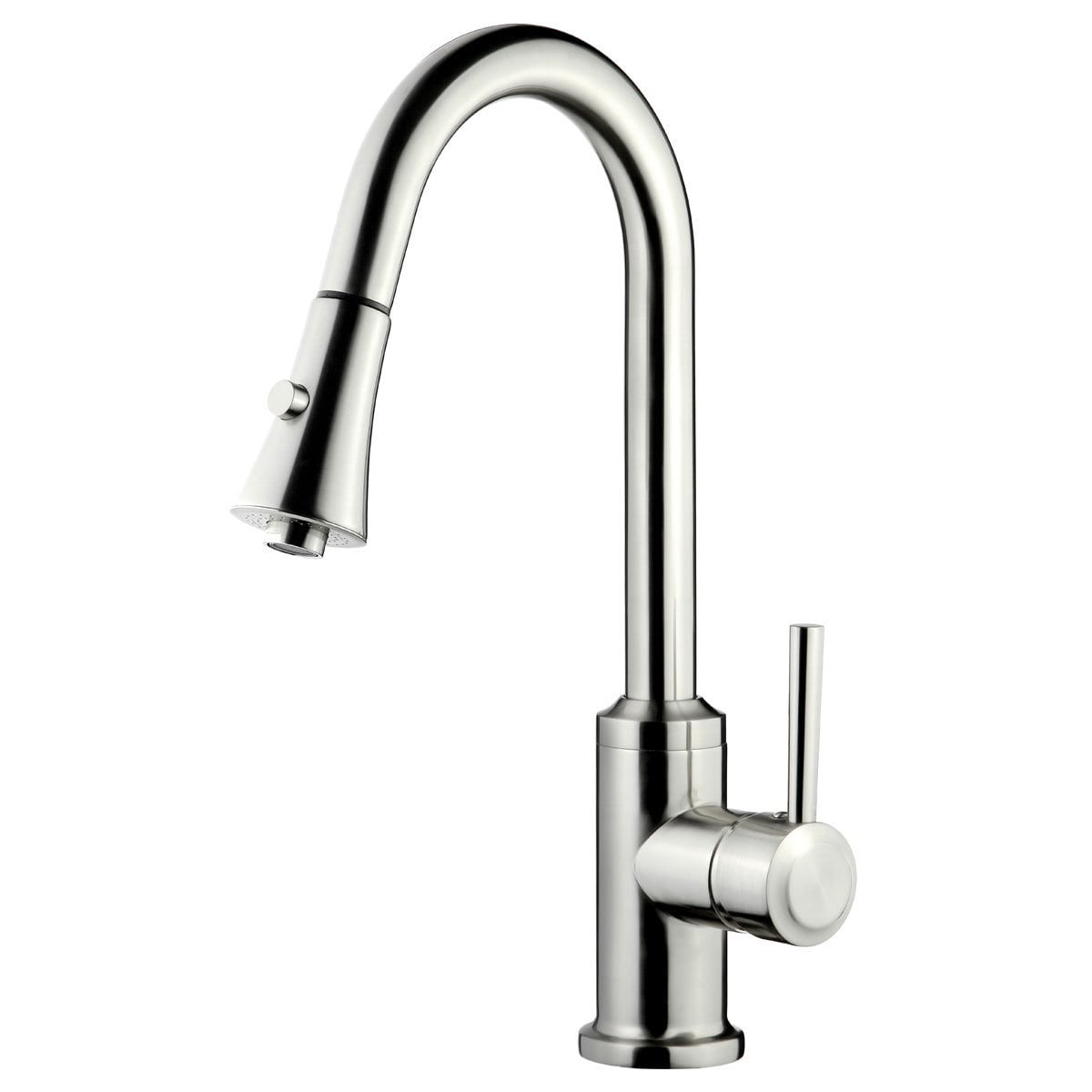 LK11B Pull Out Kitchen Faucet, Brushed Nickel Finish