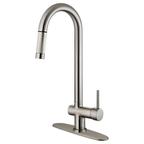 LK13B Pull Out Kitchen Faucet, Brushed Nickel Finish